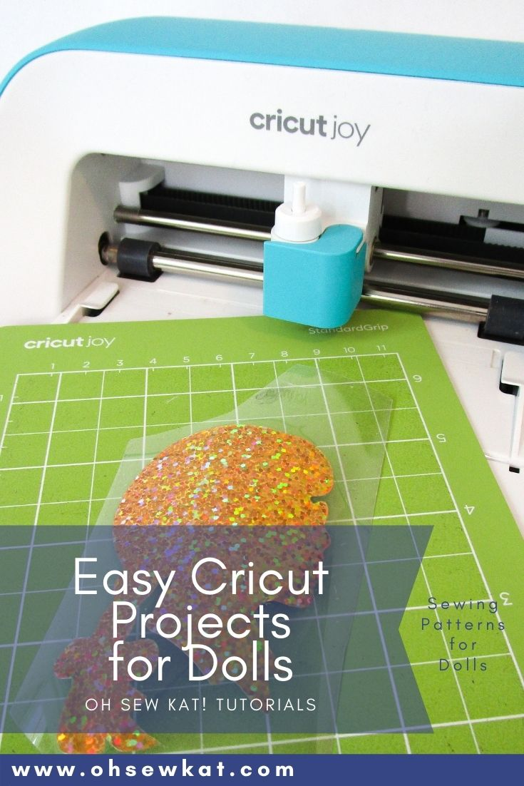Use your cricut or cameo machine to make fun doll clothing, decorations, accessories and more. Find quick turorials and easy to sew pdf sewing patterns at Oh Sew Kat!