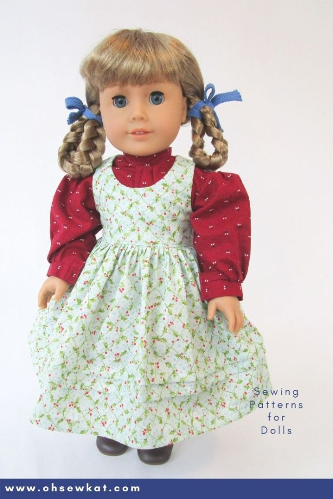 DIY beautiful historical doll clothes from 1854 for your Kirsten Larson 18 inch American Girl doll with easy to sew PDF sewing patterns from Oh Sew Kat!
