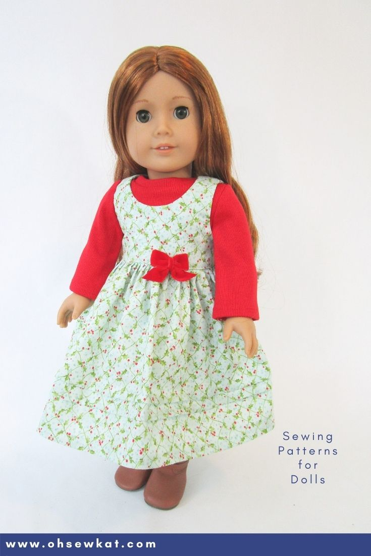 Make a holiday jumper for American Girl dolls with easy to sew patterns you download at home.  F